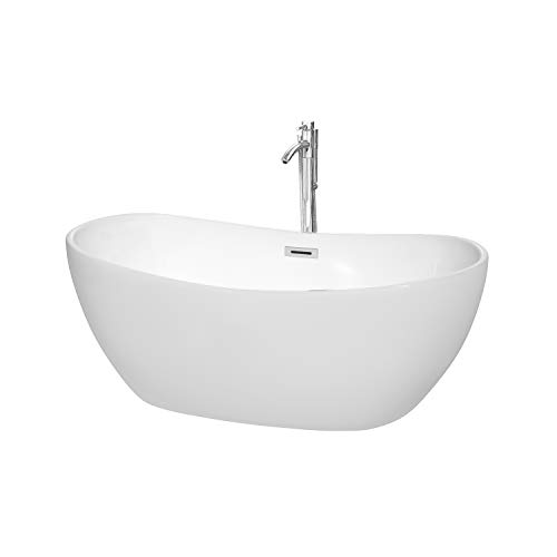 Wyndham Collection WCOBT101460ATP11PC Rebecca Freestanding Bathtub 60