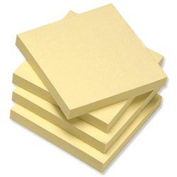 5 Star 75 x 75 mm, Re-Move riposizionabile-Blocchetti appunti in carta riciclata, confezione da 12, colore giallo Spicers UK 934180
