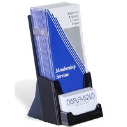 Good Displays2go Tabletop Brochure Holder With Business Card Pocket