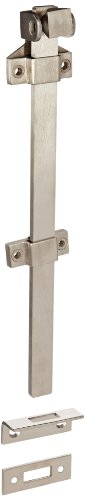 Rockwood 582-12.32D Stainless Steel Surface Bolt with Padlock Bracket, 12'' Length, Satin Finish by Rockwood