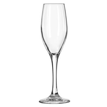 Libbey Perception Glass Stemware, 5 3/4 oz, Clear, Champagne Flute - 12 flutes. ()
