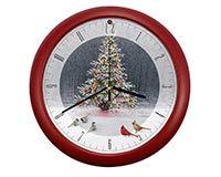 (Mark Feldstein Christmas Tree Bird Gathering Clock )