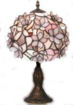 ステンドグラスランプ 立体花柄 H39cm [ST-4407B3] B00DSJQVZ8