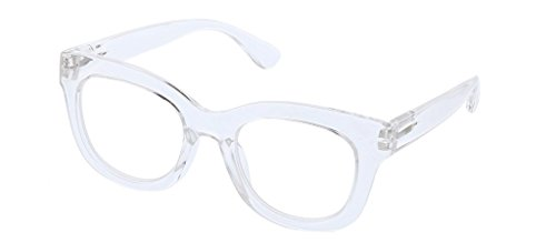 Peepers Women's Center Stage - Clear 2524150 Round Reading Glasses, Clear, ()