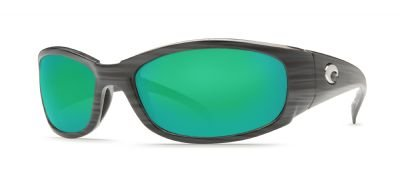 Costa Del Mar Hammerhead Sunglasses, Silver Teak/Green Mirror 580Glass