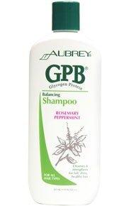 GPB Shampoo Balancing Protein Rosemary Peppermint Aubrey Organics 11 fl oz Liquid -