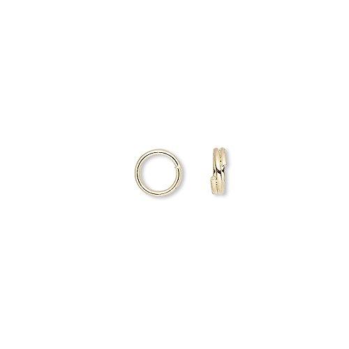 100 Plated Steel 5mm Round Double Loop Split Ring Jewelry Findings ()