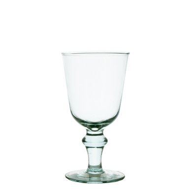 999bb072bf7 Grehom Recycled Glass Wine Glasses (Set of 2) - Curved Ball (225ml)   Recycled Glassware  Amazon.co.uk  Kitchen   Home