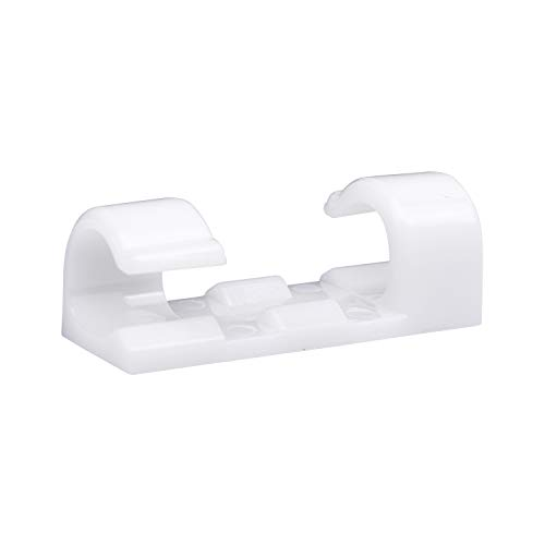 Self-Adhesive Cable Clips Organizer Drop Wire Holder Cord Management, Pack of 20, -