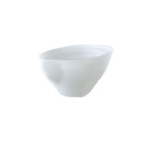 Shiraleah Large White Frosted Alabaster Slanted Bowl ()