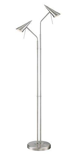 Lite Source Talbot 2-Light Steel Cone Halogen Floor Lamp