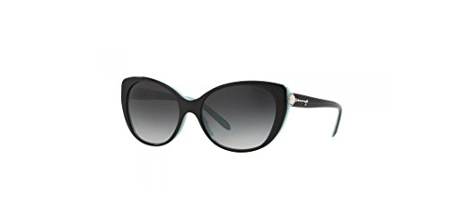 Tiffany Tf4099h Cateye Pearl Silver Key Black Blue Sunglasses - Key Tiffany Sunglasses