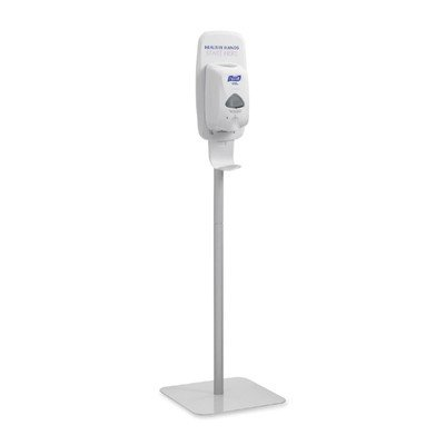 Gojo Purell Sanitizing Station - Purell Products - Purell - Floor Stand for TFX Touch Free Instant Hand Sanitizing Dispenser, Light Gray - Sold As 1 Each - Ideal for high-traffic areas. - Encourages hand hygiene. - Built-in shield keeps surrounding area clean. - Easy to assemble. - For use with PURELL TFX Touch-Free Dispenser (GOJ-2720-12, sold separately).