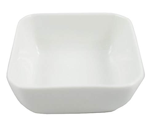 (1 Dz White Porcelain Square Sauce/Side Dishes (3