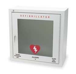 Defibrillator Storage Cabinet, Steel, Wht