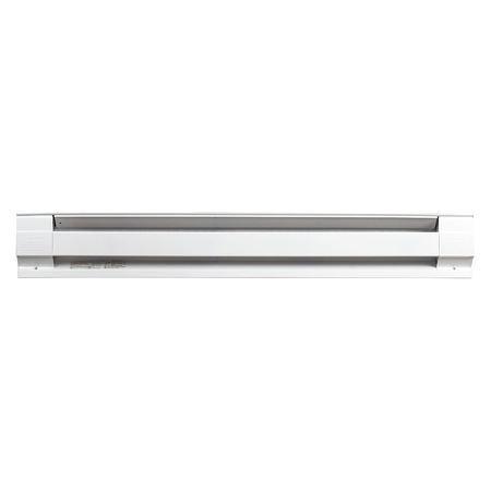30'' Electric Baseboard Heater, White, 375/500W, 208/240V