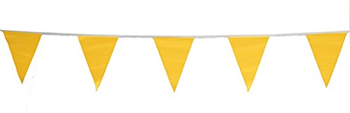 Cortina OSHA Approved Pennant Flags - for Use with Roof Warning Line Perimeters 03-405-105, Yellow, 105' Length