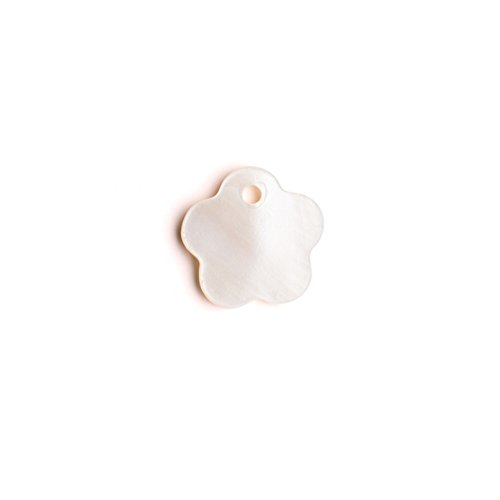 Flower Mother-Of-Pearl Charms 11x11mm Sold per pkg of 50pcs ()