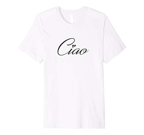 Ciao Premium Designer Graphic T-Shirt - Italian Flag Heart