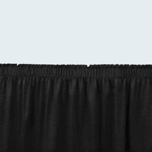 - Tabletop king Seating SS16-48 Black Shirred Stage Skirt for 16