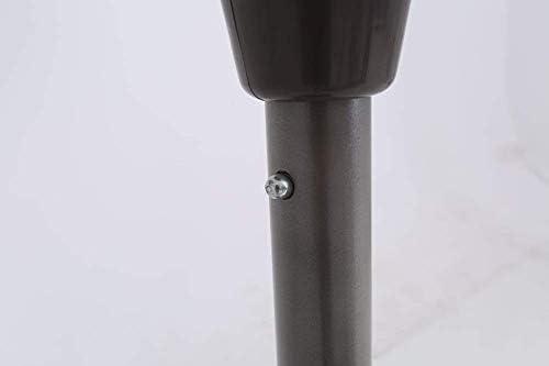 パラソル9フィート屋外パティオマーケットテーブル傘、クランク付きポータブルサンシェルター、ガーデンデッキの裏庭プール(ダークグリーン)(色:ダークグリーン、サイズ:Ø 9ft / 270cm)