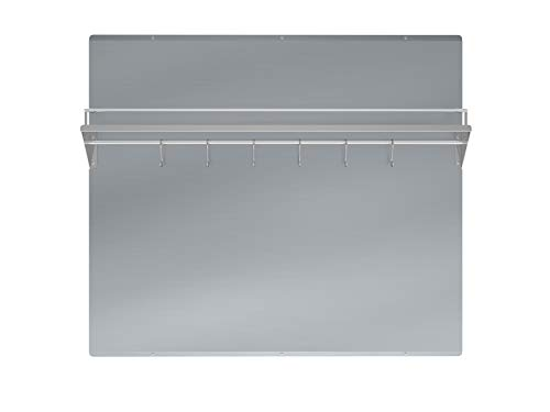 Ancona 36 in. Stainless Steel Backsplash with Shelf and Rack