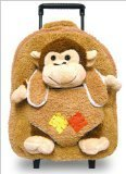 Pecoware Best Buddy Monkey Backpack with Rollers