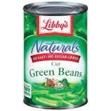 Libby's Naturals Cut Green Beans (No Added Salt or Sugar), 14.5oz Cans (Pack of 6) by Libby's