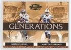 - Marvin Harrison; Michael Irvin (Football Card) 2007 Donruss Threads - Generations #G-5