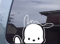 Pochacco Dog Waving Hello Kitty Decal Sticker -SPDW0507-