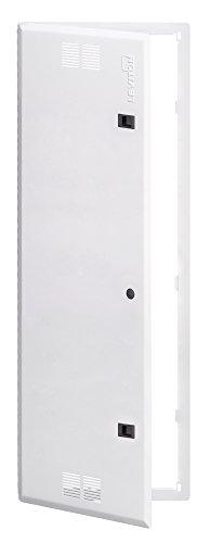 (Leviton 47605-42S 42-Inch Vented Premium Hinged Structured Media Door, White)