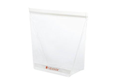 Full Circle ZipTuck Reusable Plastic Storage Bag, Clear