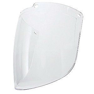 UVEX by Honeywell S9555 Uvex Turboshield Clear Polycarbonate Replacement Visor and Clear Lens with Dual Anti-Scratch/Anti-Fog Lens Coating - Polycarbonate Visor