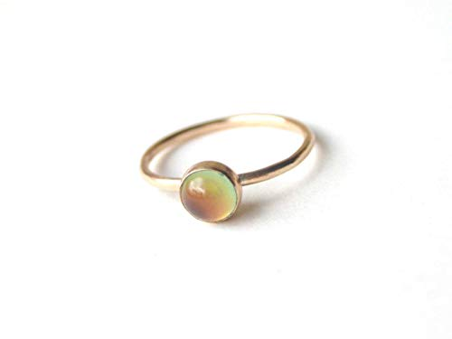 Small Stacking Mood Ring in 14kt ()