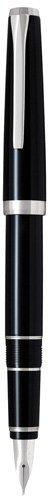 Pilot Metal Falcon Collection Fountain Pen, Black Barrel, Extra Fine Nib (60461)