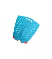 FCS T-1 Teal/Fire Engine Red Traction Pad