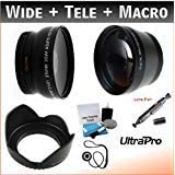 40.5mm Pro Essential Lens Kit for the Samsung NX300 w/20-50mm Lens. Includes: 2x Telephoto Lens, 0.45x HD Wide Angle Lens w/Macro, Tulip Lens Hood. UltraPro Accessory Bundle Included