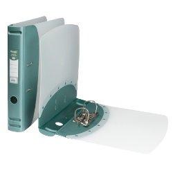 Polipropileno Mini archivador de anillas (A4, lomo 50 mm, color verde metálico: Amazon.es: Oficina y papelería
