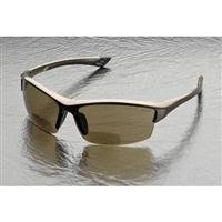Elvex RX-350BR Sonoma Brown Polycarbonate BiFocal Safety / Fashion Glasses with +3.0 Diopters, Brown Frame