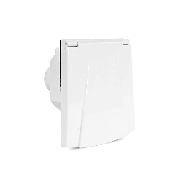 216WdrHnCcL Wasseranschlussdose   abschließbar   weiß   inkl Dichtung & Schrauben   40mm