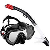 AUGYMER Diving Mask, Panoramic Snorkeling Freediving Snorkel Diving Mask Food Grade Silicone No Smell Sports Diving Goggles Swimming Equipment