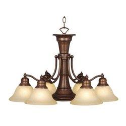Vaxcel USA Lighting CH30307RBZ, Standford 7 Light Chandelier Lighting Fixture, Bronze, Glass, B8010