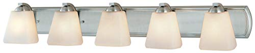 Dolan Designs 3375-09 5Lt Bath Satin Nickel Hammond 5 Light Bathroom Fixture, ()