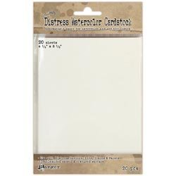 Bulk Buy: Ranger Inks (2-Pack) Distress Watercolor Cardstock 20/Pkg 4.25in. x 5.5in. TDA39549