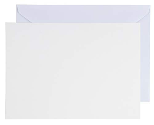 48-Pack Blank Greeting Cards - Plain Cardstock Folded Notecards - Standard Straight Corners, Envelopes Included for DIY, Party Invitation, Birthday, Wedding, 4 x 6 Inches, Laser Printer Friendly