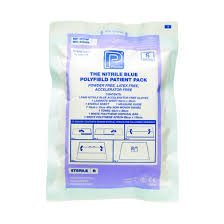 Polyfield Patient Pack with Medium Nitrile Powder Free Gloves (Pack of 20)