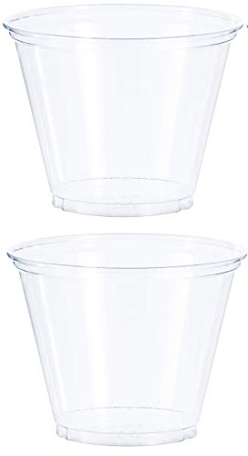 - Solo Foodservice TP9R Cold Cup, Clear Squat, 9 oz, Set of 1000 (2.Sets)