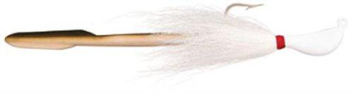 (Bomber Saltwater Grade 1 1/2-Ounce Jig-N-Eel Striper Jig, White Finish)