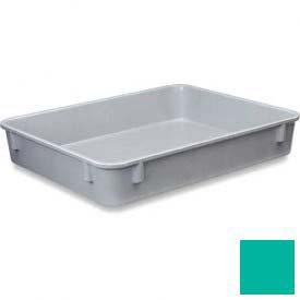 LEWISBins Plexton Fiberglass Nest Container Only NO129-2, 12-13/32 x 9-13/16 x 2-1/8, Green - Lot of 22