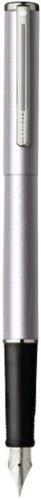 Sheaffer Agio Frosted Lilac Nickel Trim Fountain Pen- Medium -